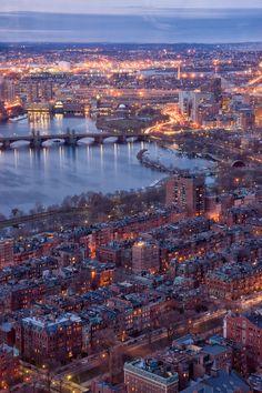 Boston with million lights