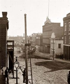 Atlanta, Georgia. View on Marietta Street. 1864