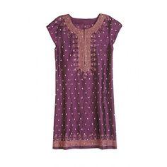 Embroidered silk taffeta dress