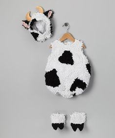 Take a look at this Cow Dress-Up Outfit - Infant babi fashion, infant toddler, cow outfits, babi boy, halloween kids, cow costum, toddlers, infants, babi audrey