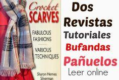 2 Magnificas revistas con pañuelos-bufandas con tutoriales estan en inglés, pero lo bueno es que...