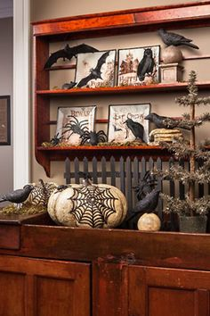 Decorating for Halloween with Ravens