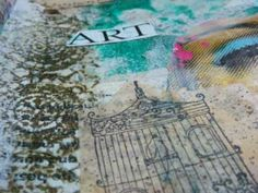 art journal - mixed media and collage