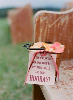 Ceremony petal toss buckets!