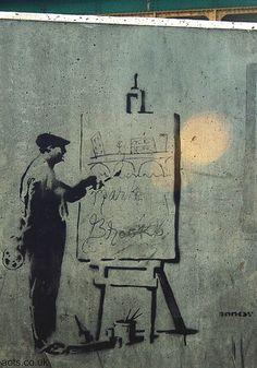 Banksy | Banksy graffiti, stencil graffiti art pictures by Banksy Bristol    #streetart