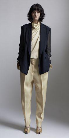 satin crepe, silk satin, crepes, satin trouser, jackets, crepe top, celine wedges 2014, vanilla satin, cream