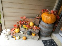 "Fall Porch From DIY User ""fauxmuchfun"""