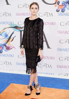 Olivia Palermo in an Ann Taylor sweater and skirt at the CFDA Awards