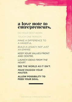 A love note to #entrepreneurs