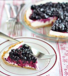 No Bake: Blueberry Cheesecake Ice Cream Pie