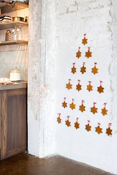 wall tree with cookie ornaments