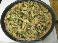 Smokey Hamburger-Cauliflower Casserole | Buttoni's Low Carb Recipes
