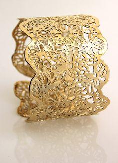 Yellow gold plated bracelet 24 karat gold plated