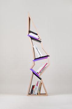 chopped tree bookshelf - Lenka Czereova