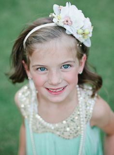 decked out flower girl // photo by Mallory Morgan Photography // http://ruffledblog.com/west-texas-cornfield-wedding