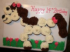 Horse 'Cupcake' Cake