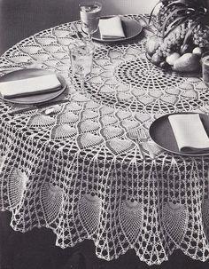 Crochet Round Tablecloth Patterns - LoveToKnow