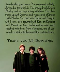 thank you jk rowling.