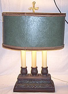 Mid Century Hollywood Regency lamp celluloid columns