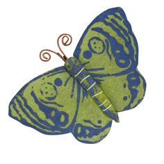 Silk Paper Butterfly Clip from Ten Thousand Villages -- cute to add to your gift wrap! $3.00
