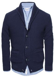 HE by MANGO - Textured knit cotton cardigan #SS14
