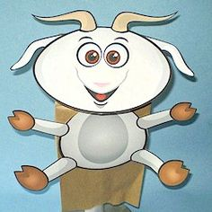 Paper Bag Goat Puppet Craft
