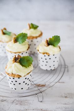 carrot ginger cupcakes.
