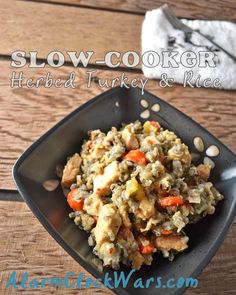 Try this Herbed Turkey & Rice in your crockpot to get your taste buds ready for Thanksgiving!
