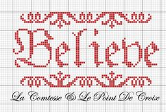 Believe cross stitch