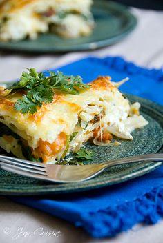 gluten free chicken & spinach lasagna