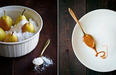 salt-roasted pears