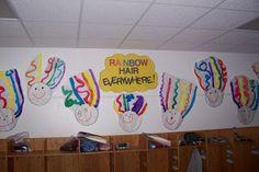Cute idea to do for rainbow hair!!  Kindergarten Rocks!: Colors