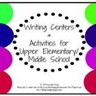 Writing Activities or Writing Centers for many levels- This is a set of four different writing activities for upper elementary students and possibl...