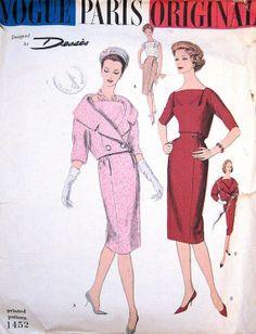 RARE Desses 1950s Vogue Paris Original Suit Pattern by PatternGal, $110.00