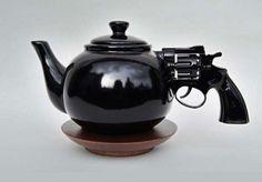 gun tea pot