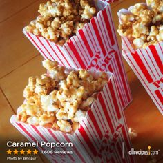 "Caramel Popcorn | ""It was exactly like my moms foolproof recipe! Super fast and easy....it's what you expect when you make homemade caramel corn. Also, ratio of caramel to popcorn was perfect."""