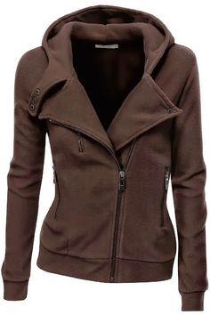 Women's Fleece Zip Up. #jacket