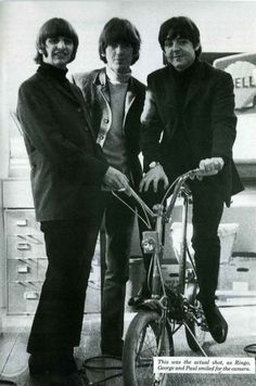 Richard Starkey, George Harrison, and Paul McCartney