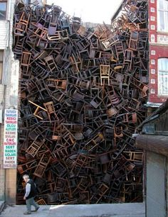 An impressive installation by Doris Salcedo at Istanbul Biennial.