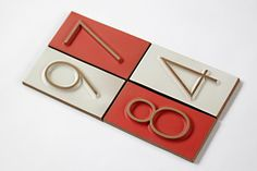 Eames house numbers from Heath Ceramics