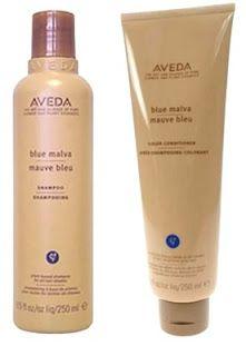 Blue Malva. ENHANCES COLOR FOR BLONDE AND GREY.  Shampoo & Conditioner: Neutralizes brassy tones, brightens grey