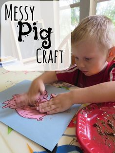 Some days you just want to get messy! Farm Unit: Messy Pig Craft http://www.mymundaneandmiraculouslife.com/2014/06/farm-unit-messy-pig-craft.html