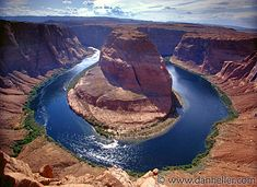 Horseshoe Bend at Glen Canyon National Recreations Center near Page, AZ.