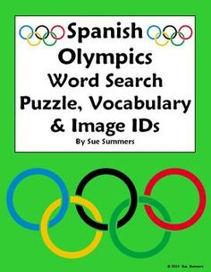 Spanish Winter Olympics Word Search Puzzle Worksheet and Vocabulary by Sue Summers - Great for a fun substitute lesson plan!