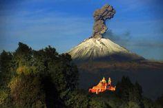 Volcán Popocatépetl, Cholula, Puebla