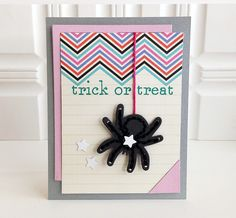 Trick Or Treat Card by Danielle Flanders for Papertrey Ink (August 2014)