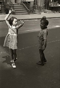 Helen Levitt 1913-2009 Raised in Brooklyn, a self taught photographer, maneuvered through the neighborhood streets to take pictures of children at play without disturbing their reality.