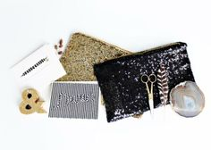 The sparkly Giana Clutch is sleek + perfectly-sized for a night out <3 $24