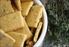 Vegan, gluten free crackers! Must try!--I grind all my brown rice flour and all my chickpea flour in my nutrimill. It works great!