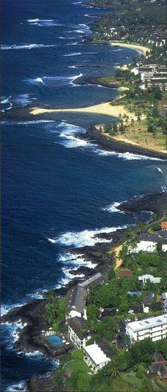 Poipu on the south coast of Kauai, Hawaii